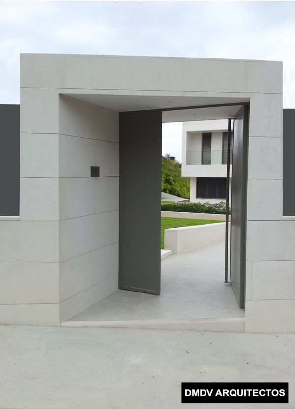 casa bioclimatica entrada